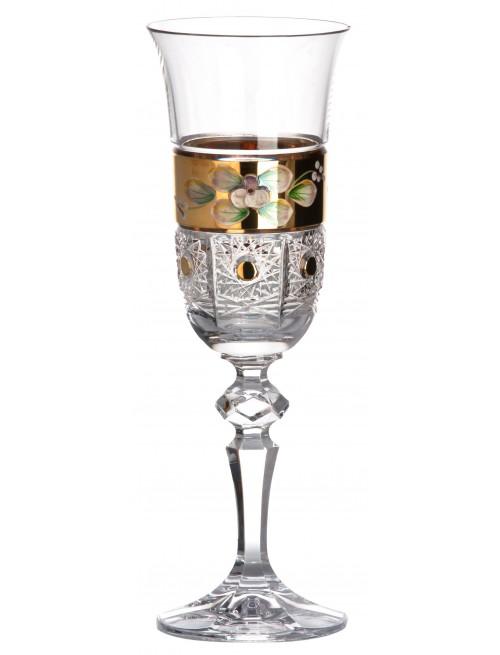 Lampka 500K Złoto, szkło kryształowe bezbarwne, objętość 150 ml