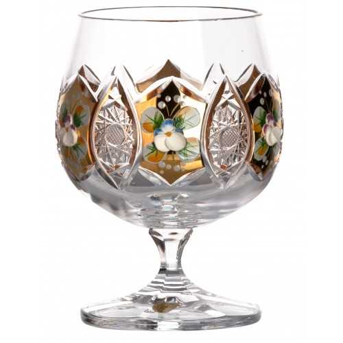 Kieliszek do Brandy Złoto, szkło kryształowe bezbarwne, objętość 250 ml