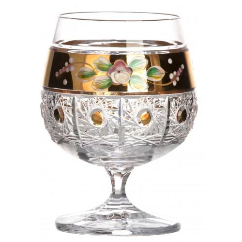Kieliszek do brandy Richmond 500K Złoto, szkło kryształowe bezbarwne, objętość 250 ml