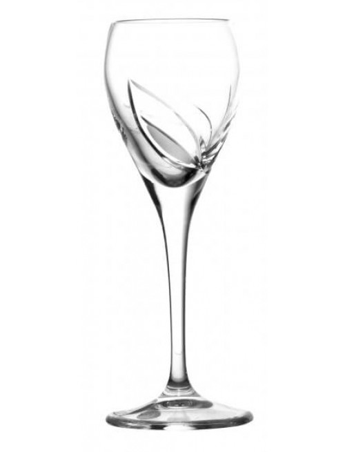 Szklanka Liść, szkło kryształowe bezbarwne, objętość 90 ml
