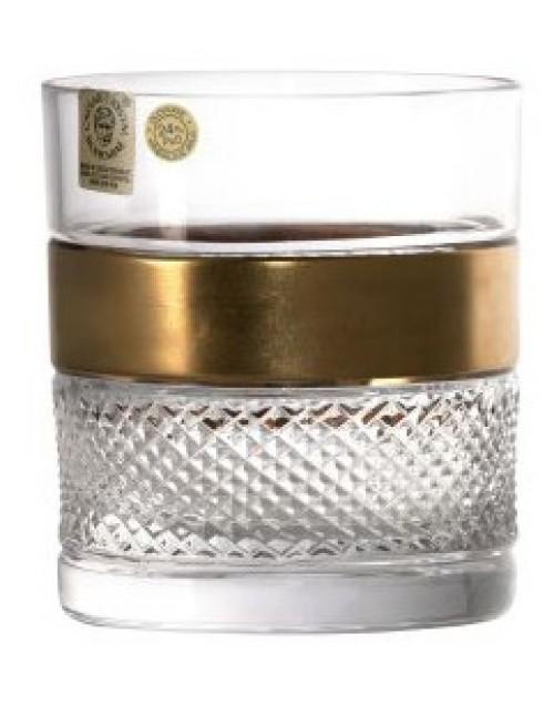 Szklanka Złoto, szkło kryształowe bezbarwne, objętość 380 ml