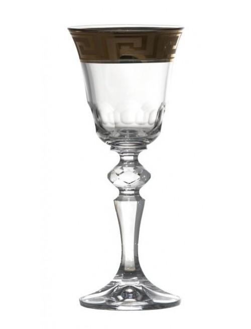 Szklanka emalia, szkło kryształowe bezbarwne, objętość 60 ml