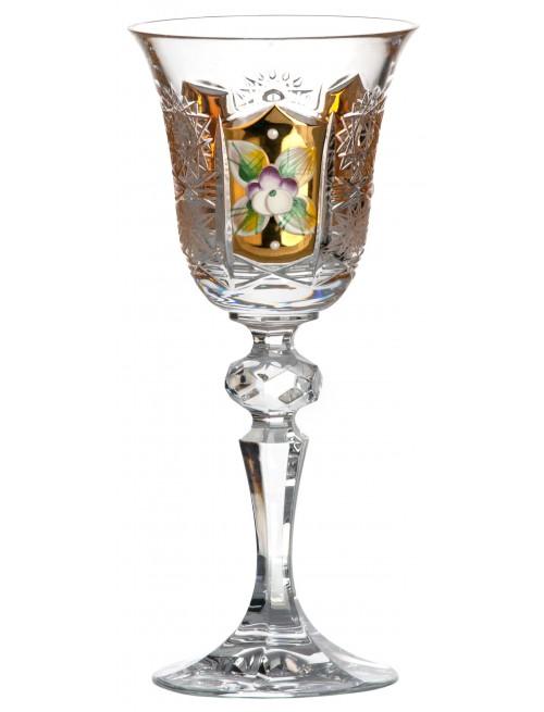 Szklanka 500K Złoto, szkło kryształowe bezbarwne, objętość 60 ml