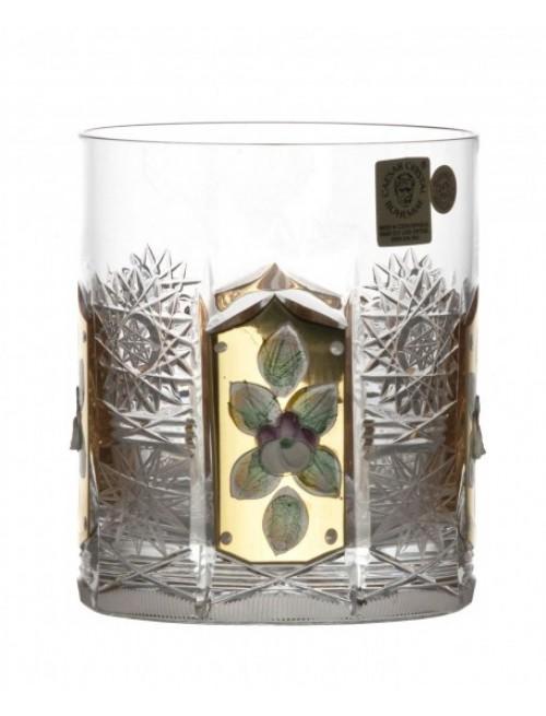 Szklanka Złoto, szkło kryształowe bezbarwne, objętość 320 ml