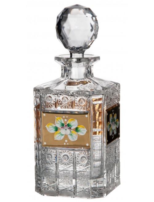 Butelka 500K Złoto, Szkło kryształowe bezbarwne, objętość 800 ml