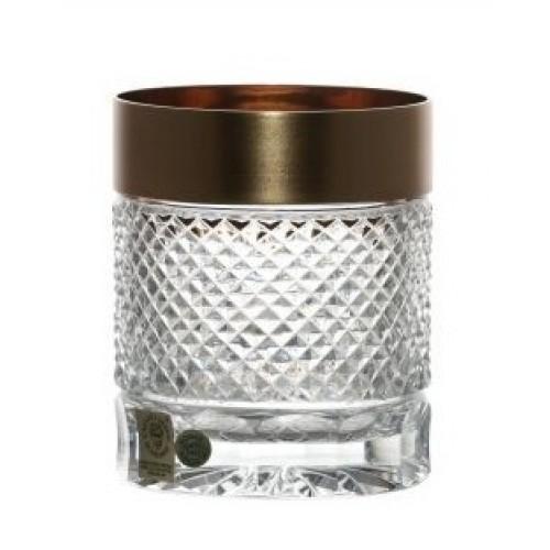 Kieliszek do whisky złoto mat, szkło kryształowe bezbarwne, objętość 320 ml