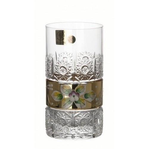 Szklanka Złoto, szkło kryształowe bezbarwne, objętość 350 ml