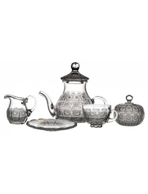 Zestaw do herbaty 500PK, szkło kryształowe bezbarwne
