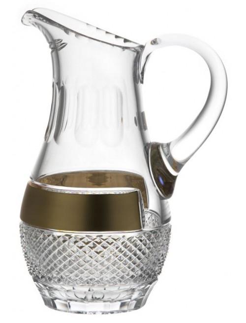 Dzbanek Złoto, szkło kryształowe bezbarwne, objętość 1500 ml