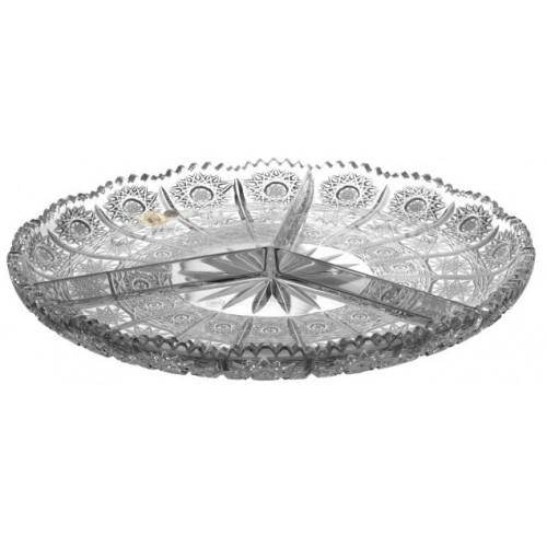 Talerz 500PK, szkło kryształowe bezbarwne, średnica 305 mm