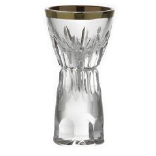 Likierówka Cierń złoto, szkło kryształowe bezbarwne, objętość 13 ml