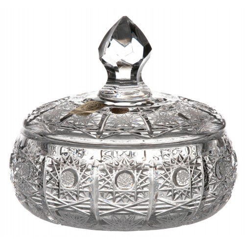 Bomboniera 500PK, szkło kryształowe bezbarwne, wysokość 128 mm