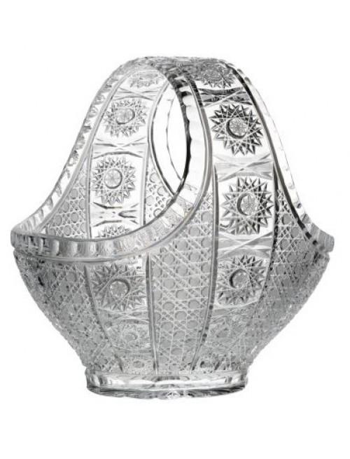 Kosz Marcela, szkło kryształowe bezbarwne, średnica 300 mm
