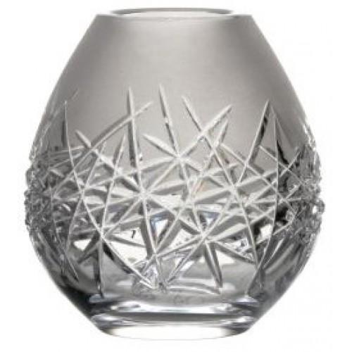 Wazon Szron, szkło kryształowe bezbarwne, wysokość 135 mm