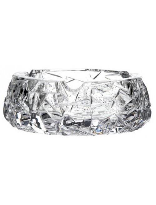 Popielniczka Floe, szkło kryształowe bezbarwne, średnica 150 mm