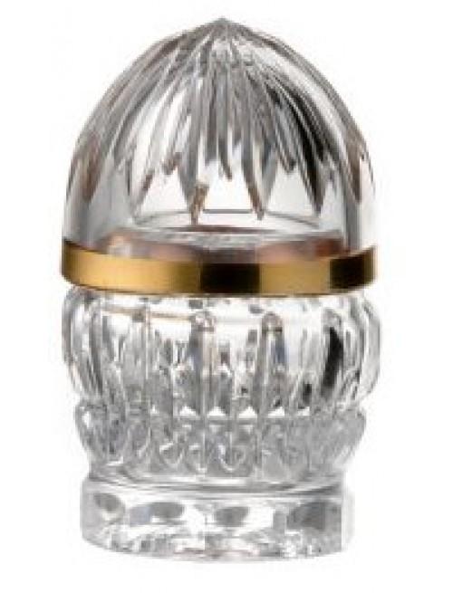 Bomboniera Cierń Złoto, szkło kryształowe bezbarwne, wysokość 82 mm