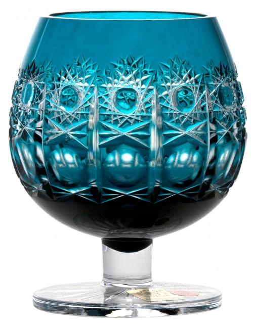 Kieliszek do brandy Petra, kolor turkusowy, objętość 300 ml