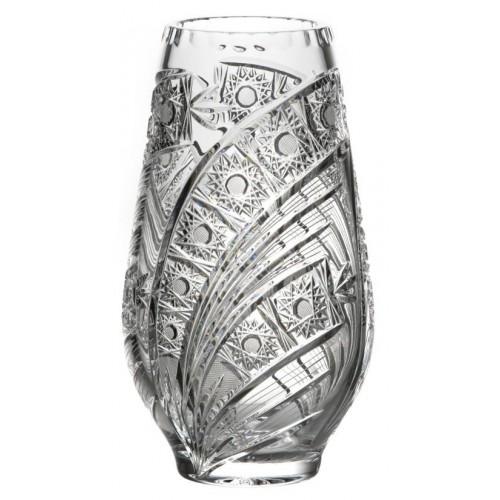 Wazon Kometa, szkło kryształowe bezbarwne, wysokość 255 mm