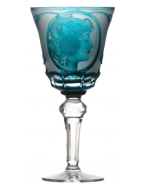 Kieliszek do wina Mucha, kolor turkusowy, objętość 240 ml