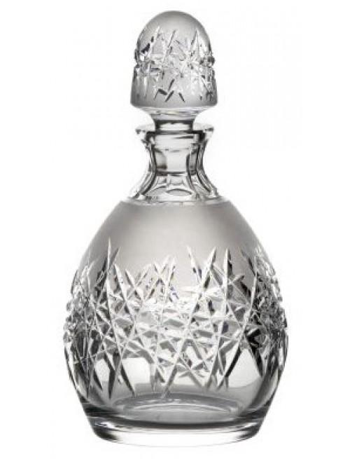 Butelka Szron, szkło kryształowe bezbarwne, objętość 700 ml