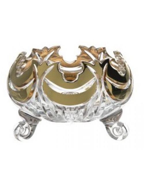 Miseczka Diadem złoto, szkło kryształowe bezbarwne, średnica 114 mm