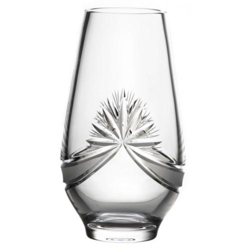 Wazon Girlanda, szkło kryształowe bezbarwne, wysokość 305 mm