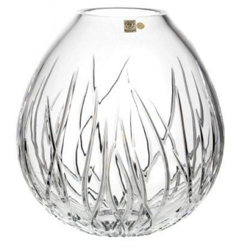 Wazon Wodorosty, szkło kryształowe bezbarwne, wysokość 210 mm