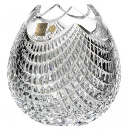 Wazon Quadrus, szkło kryształowe bezbarwne, wysokość 165 mm