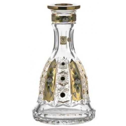 Fajka wodna 500K Złoto, szkło kryształowe bezbarwne, wysokość 267 mm