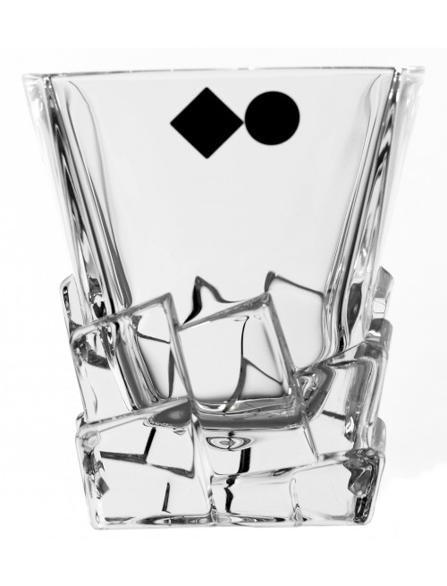 Szklanka Crack, szkło kryształowe bezbarwne, objętość 310 ml