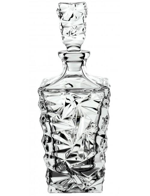 Butelka Glacier, szkło kryształowe bezbarwne, objętość 900 ml