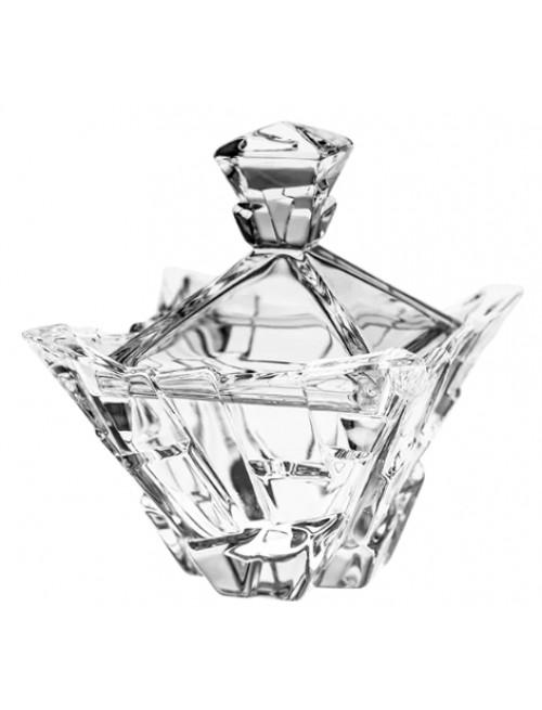 Bomboniera Piramida, szkło kryształowe bezbarwne, średnica 189 mm