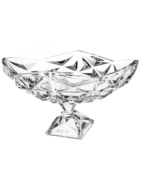Patera Piramida, szkło kryształowe bezbarwne, średnica 380 mm