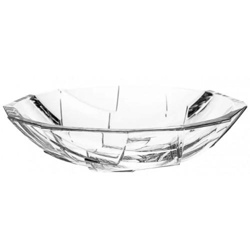 Półmisek Crack, szkło kryształowe bezbarwne, średnica 335 mm