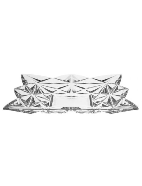 Talerz Piramida, szkło kryształowe bezbarwne, średnica 305 mm