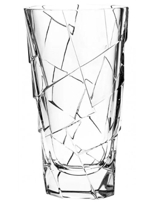 Wazon Crack, szkło kryształowe bezbarwne, wysokość 305 mm
