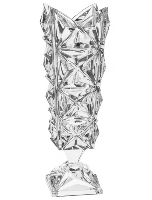 Wazon Piramida, szkło kryształowe bezbarwne, wysokość 382 mm