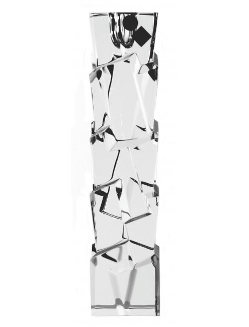 Świecznik Crack, szkło kryształowe bezbarwne, wysokość 230 mm