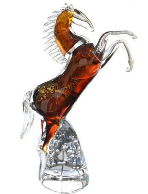 Koń, szkło hutnicze, wielkość 340 mm