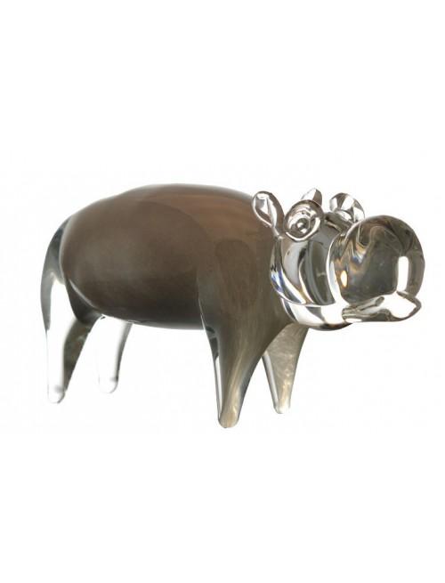 Hipopotam, Szkło hutnicze, wielkość 280 mm