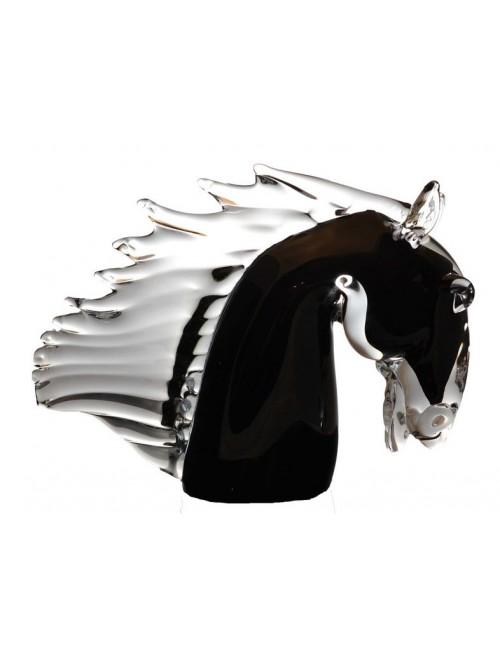 Koń, szkło hutnicze, wysokość 220 mm
