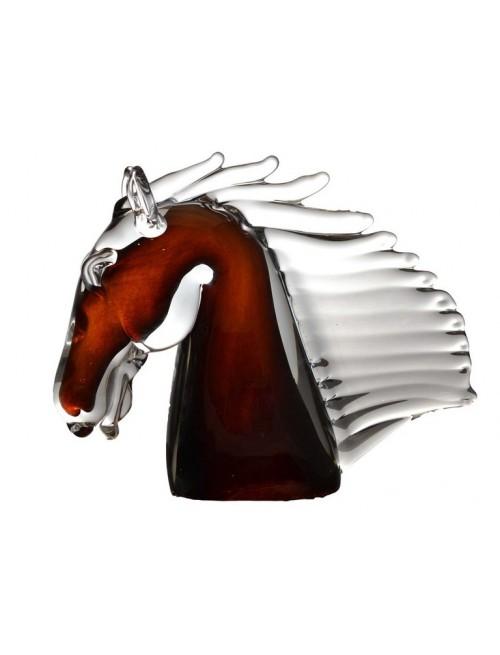 Koń, szkło hutnicze, wysokość 190 mm