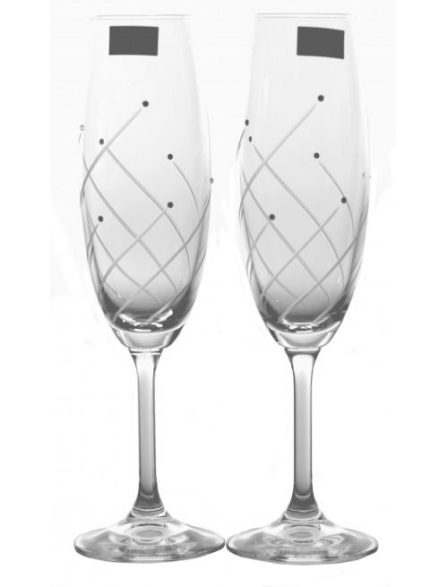 Zestaw kieliszków do wina Klára 2x, szkło bezbarwne - bezołowiowe, objętość 220 ml