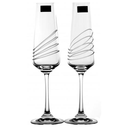 Zestaw kieliszków do wina Naomi 2x, szkło bezbarwne - bezołowiowe, objętość 160 ml