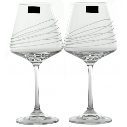 Zestaw kieliszków do wina Naomi 2x, szkło bezbarwne - bezołowiowe, objętość 360 ml
