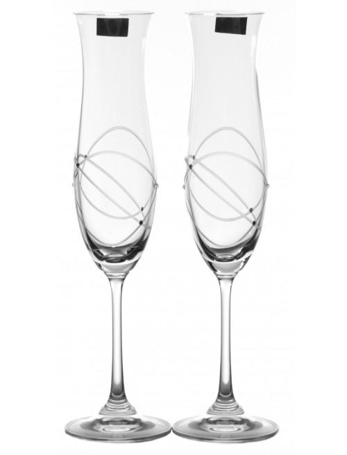 Zestaw kieliszków do wina Ellen 2x, szkło bezbarwne - bezołowiowe, objętość 200 ml
