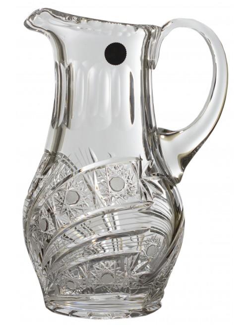 Dzbanek Kometa, szkło kryształowe bezbarwne, objętość 1200 ml