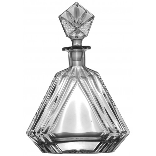 Butelka, szkło kryształowe bezbarwne, objętość 550 ml