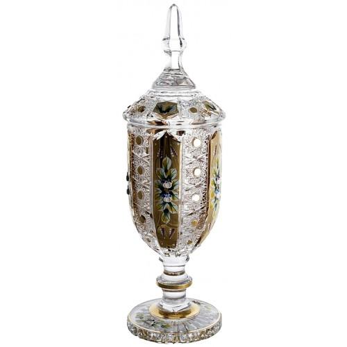 Puchar 500K Złoto, szkło kryształowe bezbarwne, wysokość 450 mm