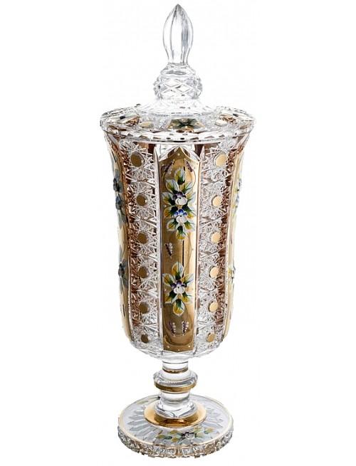 Puchar 500K Złoto, szkło kryształowe bezbarwne, wysokość 485 mm